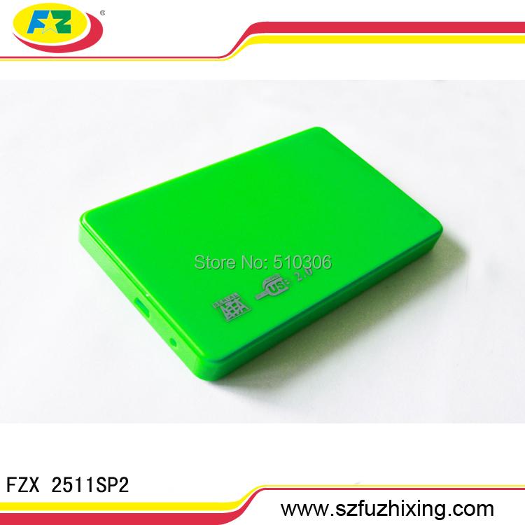 Free Shipping USB 2.0 Plastic HDD Enclosure 2.5 SATA Serial ATA External Hard Drive Case(China (Mainland))