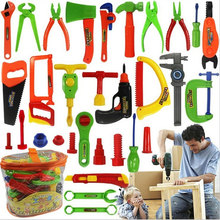 34 Pcs/set Tool Toys Children's Play Toys Boy Simulation Maintenance Tools Mobile toolbox DIY Tool sets(China (Mainland))