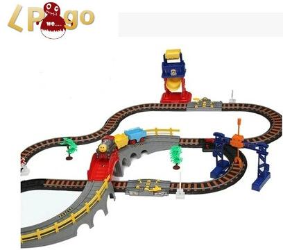2016 Brinquedos Meninos train Railway three Container thomas Train Track ho model Electric Educational Toy scale Classic Train(China (Mainland))