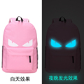 New Fashion Big Eyes Print Noctilucent Bags Student School Bag School Backpacks for Teenager Girls and