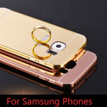 Mirror Aluminum Metal Acrylic case Cover For Samsung Galaxy S3 Neo S7 S6 S5 S4 A3 A5 2016 Grand Prime G531 G361 Neo Plus I9060(China (Mainland))