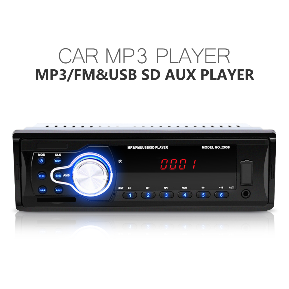 car radio 12v autos audio stereo mp3 player fm aux usb sd. Black Bedroom Furniture Sets. Home Design Ideas