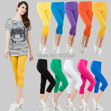 L-4XL Women ladies summer plus size cool clothing legging pants casual colorful casual wear WD0257(China (Mainland))