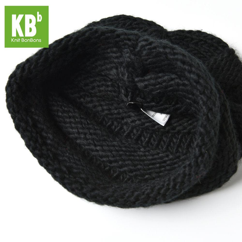 2017 KBB Spring     Winter Comfy Cute Black Ridged Pattern Designe Yarn Knit Delicate Winter Hat Beanie for Women Men Adult
