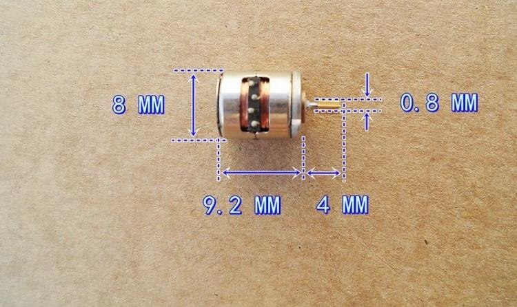 2PCS/lot Micro 2 Phase 4 Wire Stepper Motor with Copper Gear 8*9.5mm Mini Stepping Motor JSDJ2P4W895G
