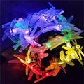 30 LED Multi color Solar Christmas Lights 19 7ft 6m 8 Modes Solar Dragonfly Fairy String