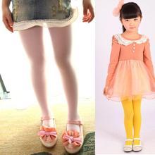2016New Arrival Kids Girls Velvet Dance Leggings Candy Color Trousers Skinny Underpants 5-15T Wholesale