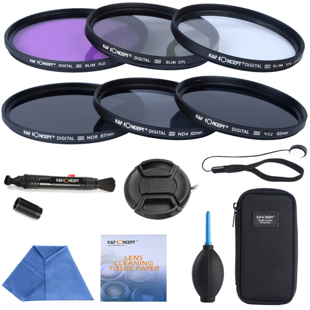 52mm UV CPL FLD+ ND2 ND4 ND8+Cleaning kits+ pouch bag Filter Kit Lens Filter Kit for Nikon D7100 D7000 D3100 D3000 Dslr Camera(China (Mainland))