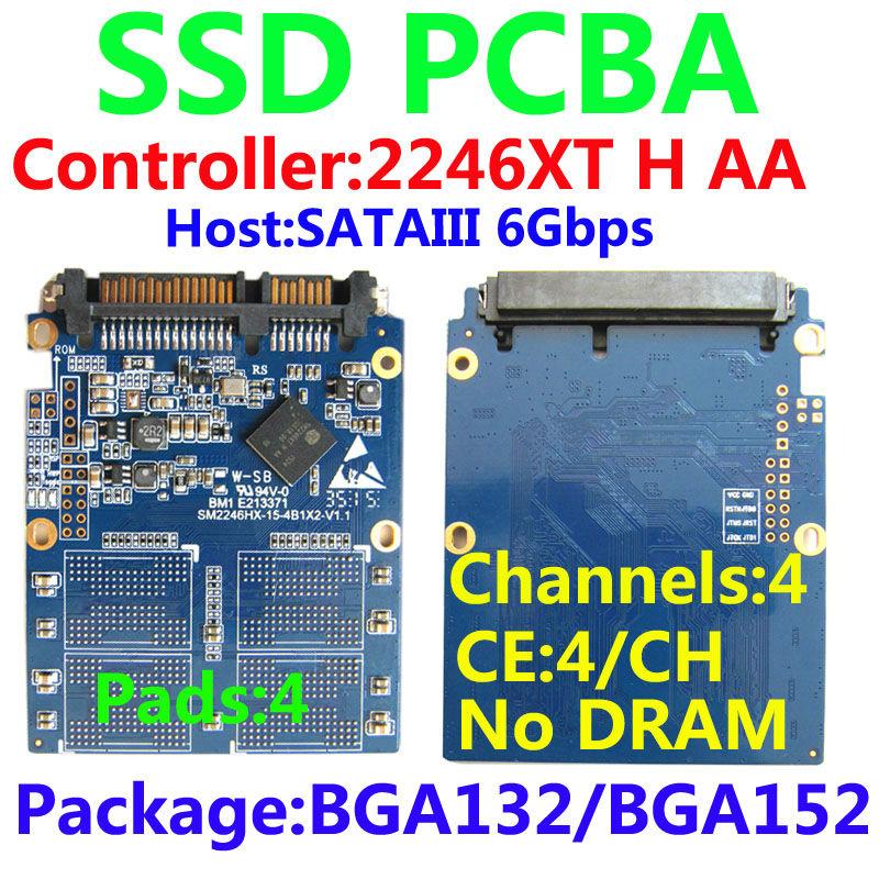SSD PCBA Kits, SM2246XT H Controller ,SATA3(6Gbps), SSD DIY Kits, 4-pad, 4-channel 4-CE SSD Controller SSD PCBA , BGA152/BGA132(China (Mainland))