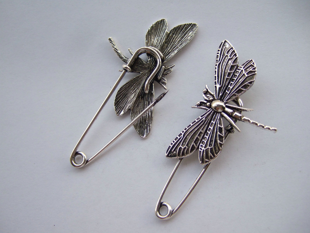 10 x font b Kilt b font Scarf Strong Metal Large Safety Dragonfly Brooch Pin Skirt