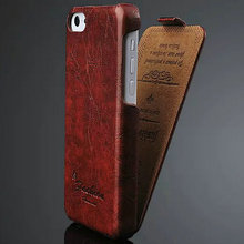 Brand New PU Leather Case For Apple iPhone 5c Flip Style Top Quality Phone Back Cover  Fashion Logo Black Brown