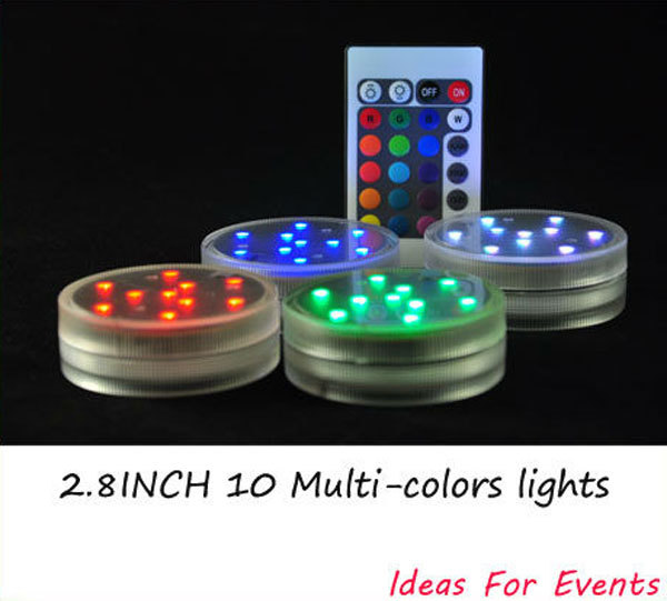 2014 Rushed New Arrival Multi Decoration Wedding Favors And Gifts Submersible Led Rgb Light,waterproof Tealights,candle Light(China (Mainland))