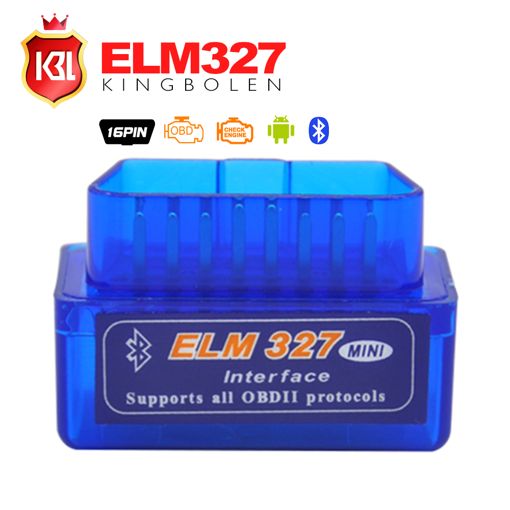2016 Free Shipping Super Mini ELM327 Bluetooth Interface V2.1 OBD2 II Auto Diagnostic Tool ELM 327 Work ON Android Torque/PC(China (Mainland))