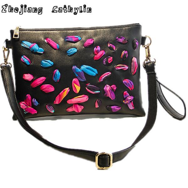 Zhejiang Cathylin 2015 women bag petals distinctive personality women messenger bags(China (Mainland))