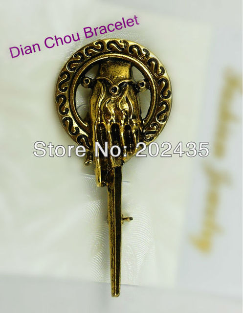 Freeshipping wholesale 20pc a lot Hand of the King Pin BRAND from A Song of Ice and Fire BB76