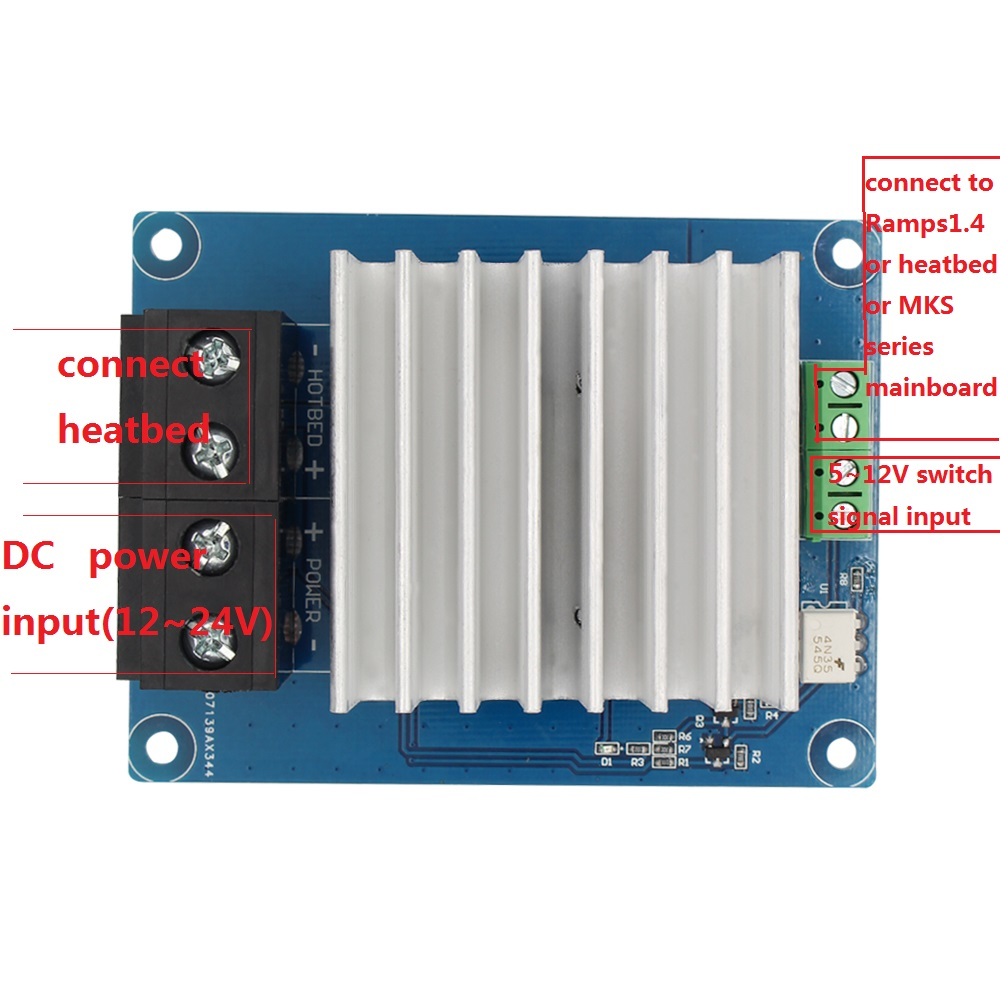3D printer parts heating-controller MKS MOSFET for heat bed/extruder MOS module exceed 30A support big current(China (Mainland))