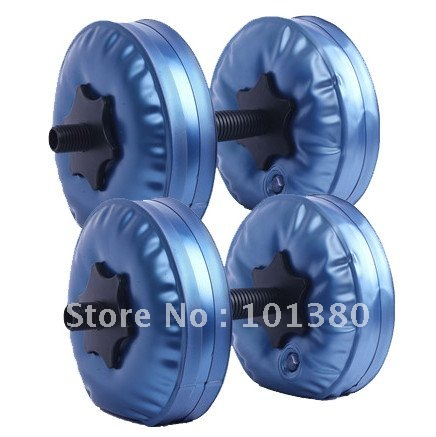 Фотография 2015 free shipping HOT selling! high quality PP water filled dumbbell 2 pairs a lot 4 bags gym equipment lose weight slimming