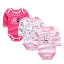 Для маленьких девочек одежда тела для новорожденных боди с длинным рукавом 100% хлопок Зима Детский костюм комбинезоны спецодежда Одежда для...(China)