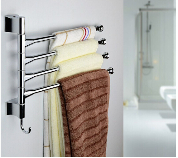 Stainless Steel Towel Bar Rotating Towel Rack Bathroom Kitchen Towel Polished Rack Holder Hardware Accessory(China (Mainland))