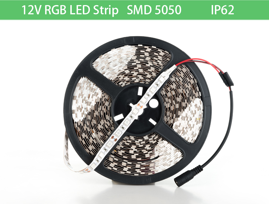 5050 led strip 12V RGB flexible led strip light NoWaterproof led light strip 10M 60leds/m led tape holiday decoration light(China (Mainland))
