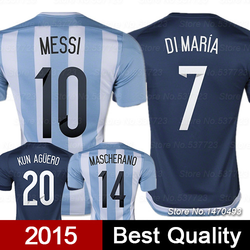 Argentina Jerseys 2015 World Cup Argentina Soccer Jerseys Top Thai Quality Argentina camisetas de futbol survetement Football(China (Mainland))