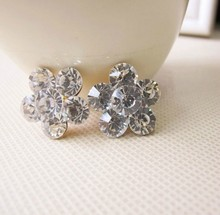Min.$15 (Mixed Order) Cell Phone Case DIY Charms Alloy Rhinestones flower Decoration charms AC108(China (Mainland))