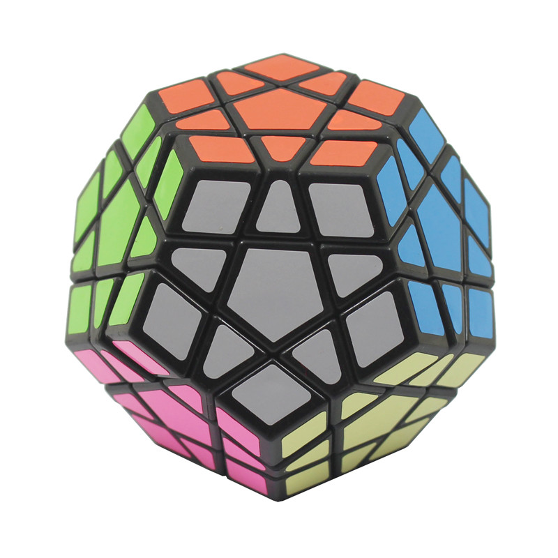 2016 hot sale Magic Cube Dodecahedron Pentagons Profiled Puzzle Cube Glossy&matte stickers child Educational Toys Creative Gifts(China (Mainland))