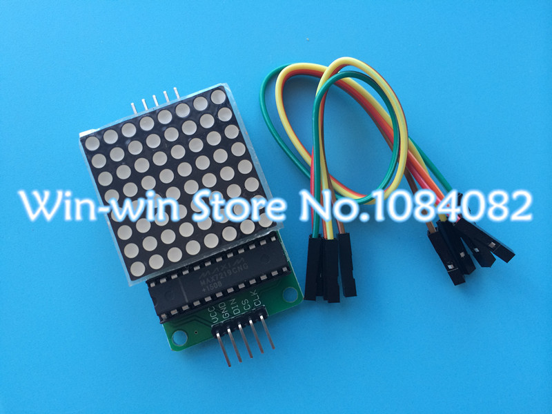 Электродетали VK 5pcs/max7219 MCU Arduino MAX7219 Dot Led Matrix Module max7219 red dot matrix module w 5 dupont lines