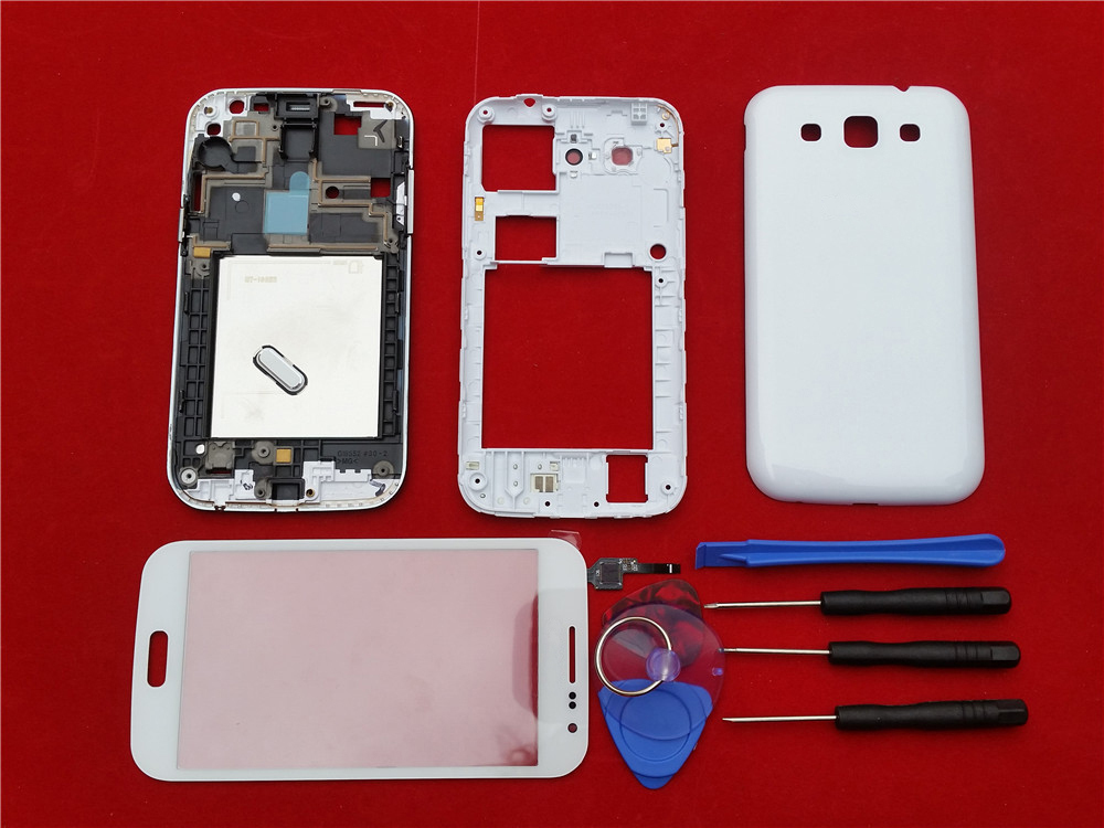 White / Black Replacement Full Housing Case Cover+Touch Screen Glass Lens+Tools+Buttons For Samsung Galaxy Win i8552 With Logo(China (Mainland))