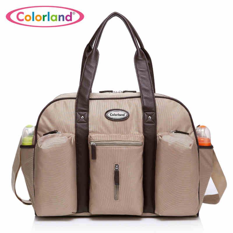 Large capacity waterproof nylon baby Diaper Bags mummy Daddys shoulder bag travel bag zipper closure 44*32cm<br><br>Aliexpress