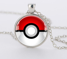 Pokemon Inspired Pendant Necklace,Glass pendant dome Cabochon Round Pendant Jewelry silver pendants for men women gift CN-440(China (Mainland))