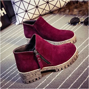 n winter boots and a velvet Boots New Waterproof red bottom thick bottom Europe female line skid bottom high upper shoes(China (Mainland))