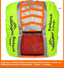 Salzmann H4005 Water Resisting Oxford Fabric Cover w/ Reflective Band for Backpack - Green + Orange(China (Mainland))