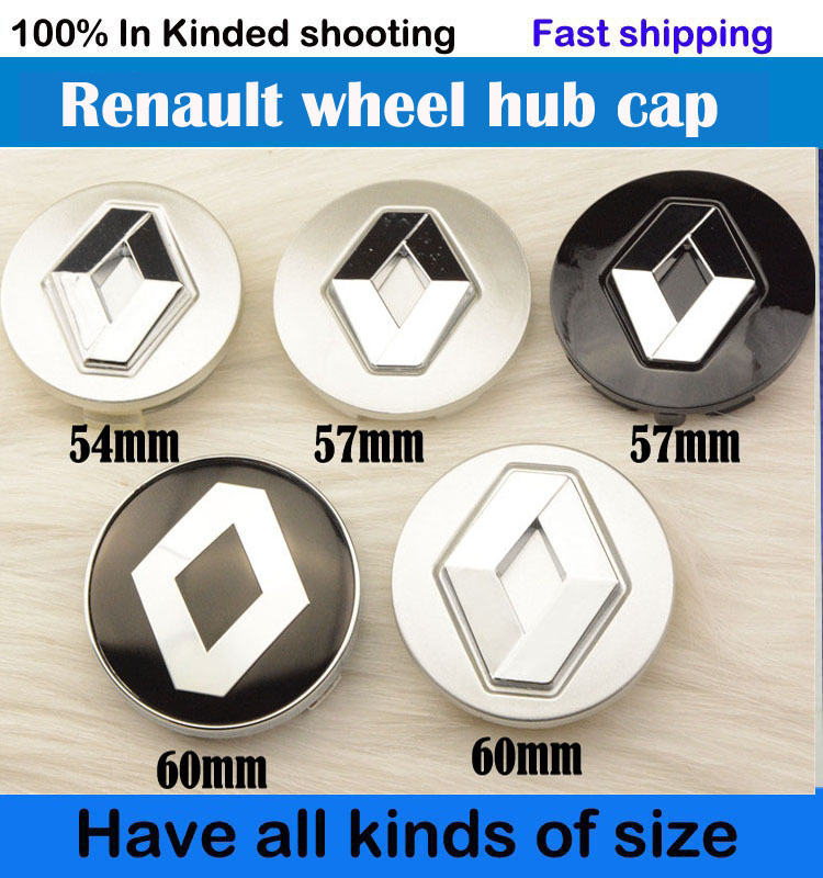 good quality 4pcs renault wheel hub cap emblem 54mm 57mm 60mm koleos logan fluence duster megane. Black Bedroom Furniture Sets. Home Design Ideas