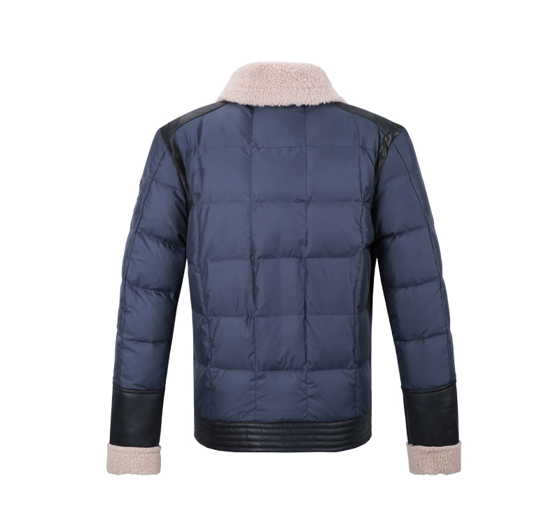 VIISHOW Brand 2015 New Arrival Men Winter Jackets Men s Coat leather sleeve splicing design down