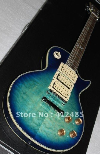 Free Shipping G Custom shop LP electric guitar Ace Frehley Signature BLUE 3 Pickups Electric Guitar(China (Mainland))