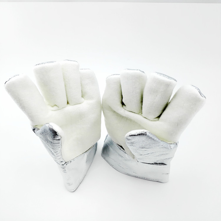 Fireproof glovesNFRR 350 degrees high temperature resistant gloves aluminum foil heat insulation anti-scald cutting safety glove