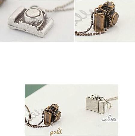 10 mix order Free Shipping 2015 New Fashion Korean Jewelry Camera Fashion Necklaces Silver Copper