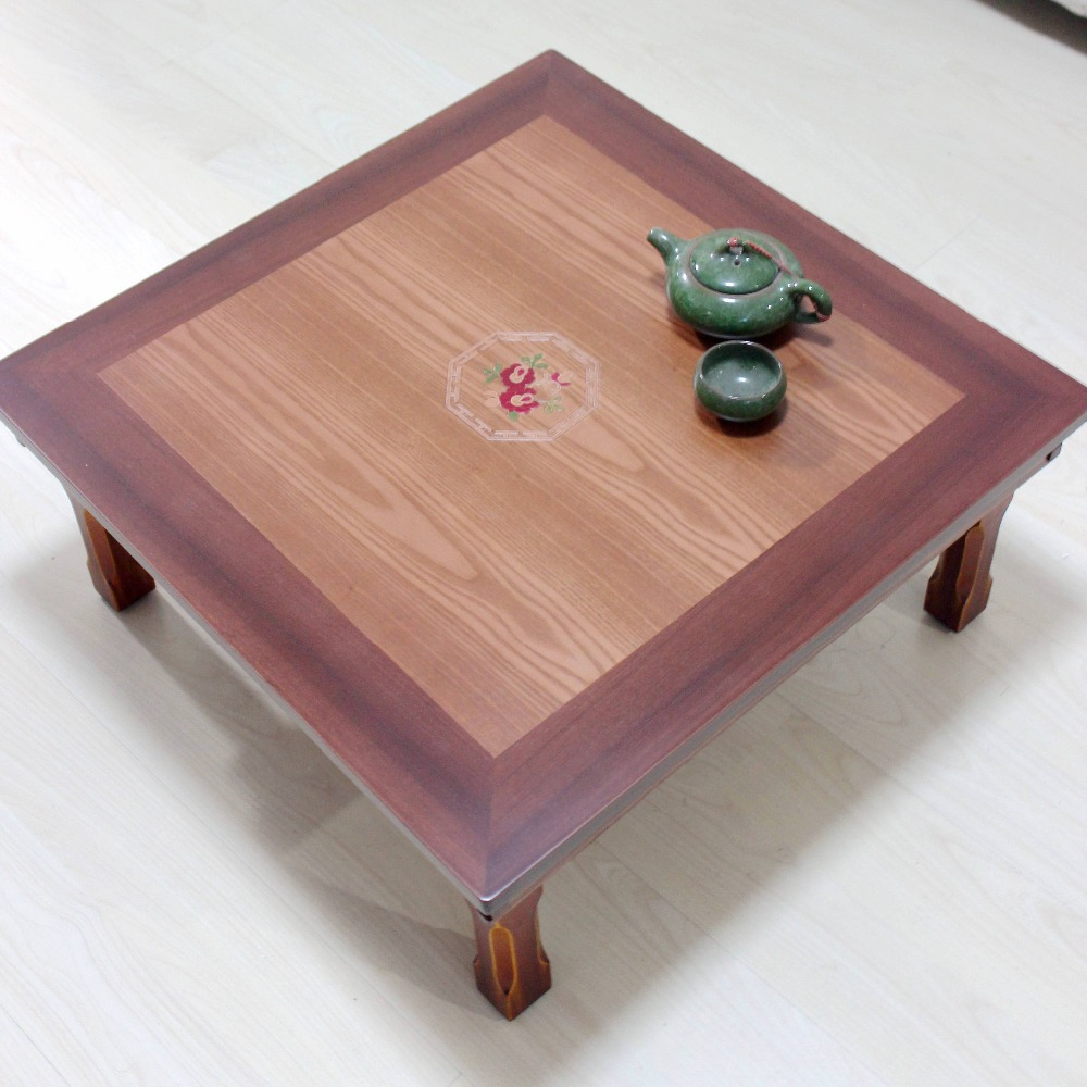 Wood Antique Furniture Legs Foldable Korean Table Square 60cm Asian Home Furniture Living Room Korean Low Antique Table Wooden(China (Mainland))