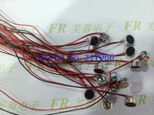 30PCS / lot ,6027 Solder wire microphone headset microphone with 6 * 3 pairs of capacitor microphone interference, Free Shipping(China (Mainland))