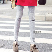 Factory Direct 2015 spring new arrival Korean knee patches Women Leggings plus size high elastic knitted legging 0820LY(China (Mainland))