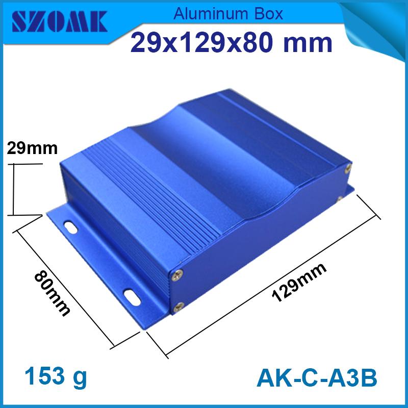 10 pcs/lot wall mounting powder coating aluminum electronics project box 29(H)x129(W)x127(L) mm power distribution box(China (Mainland))