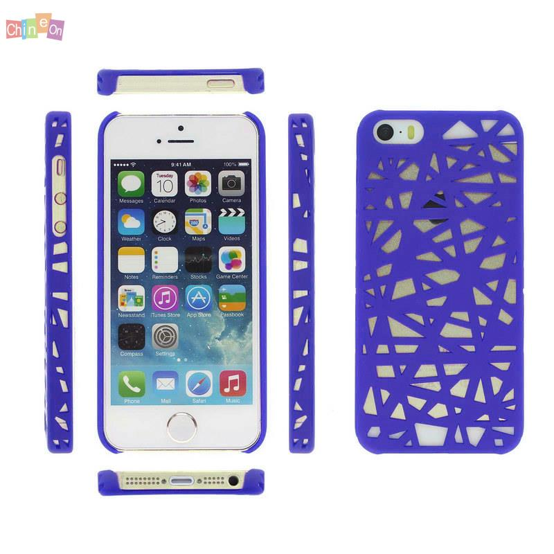 Plastic Hollow Out Bird Nest Shape Hard Matte Cover Case Skin for iPhone 5S(China (Mainland))