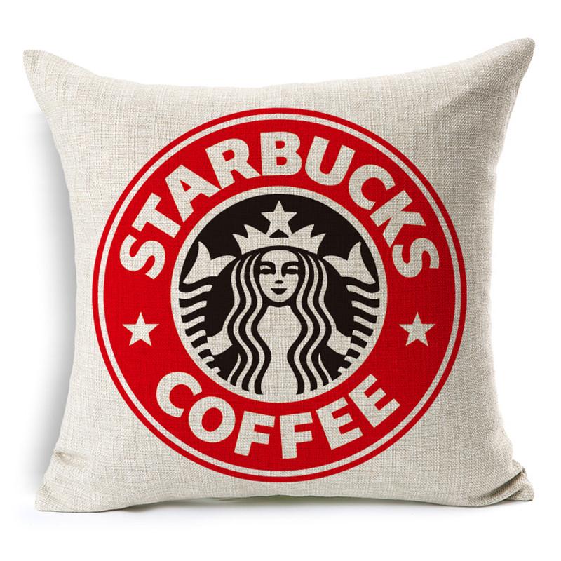MHome Fashion Modern minimalist Starbucks Linen Cotton Cushions for sofa home car Decorative pillows almofadas product