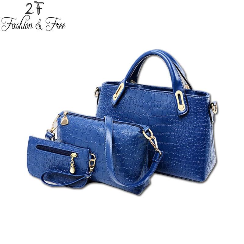 2015 Fashion 3 pcs/set Women Handbag PU Leather Bag 3 pieces Crossbody Shoulder Bags Lady hand bag Fashion Messenger women Bags(China (Mainland))