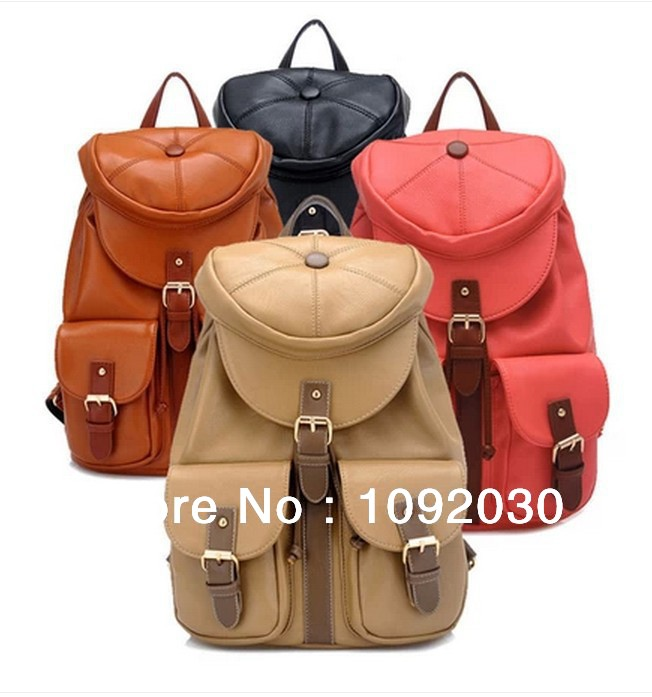 New 2014 Korean Hats Decoration Backpacks Style Students Schoolbags Travel Bags street all-match backpack student bag bag 101(China (Mainland))