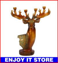 Europe Home furnishing decoration,Auspicious wedding Candlesticks,Resin milu deer,Continental Retro HI026(China (Mainland))