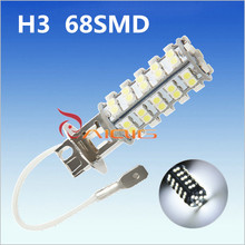 Buy 20pcs H3 68 SMD White Fog Parking Signal LED Car Light Bulb Lamp Auto car led bulbs Car Light Source 12V 6000K Head Fog Lamps for $48.32 in AliExpress store