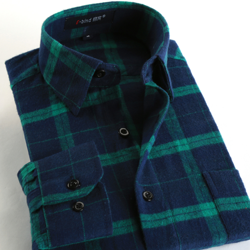 New Fashion 2015 Fall Winter Men Casual Plaid Shirt Long Sleeve Slim Fit Flannel Man Clothes Mens Shirts (Many Colors Available)(China (Mainland))