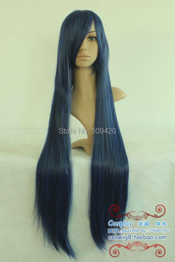 FSX5982Q>>>Accelerated world Kuroyukihime Blue Black Long Cosplay Wig/Hair(China (Mainland))